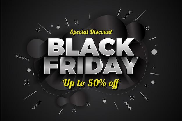 Vendita di black friday speciale sconto banner design. Vettore Premium