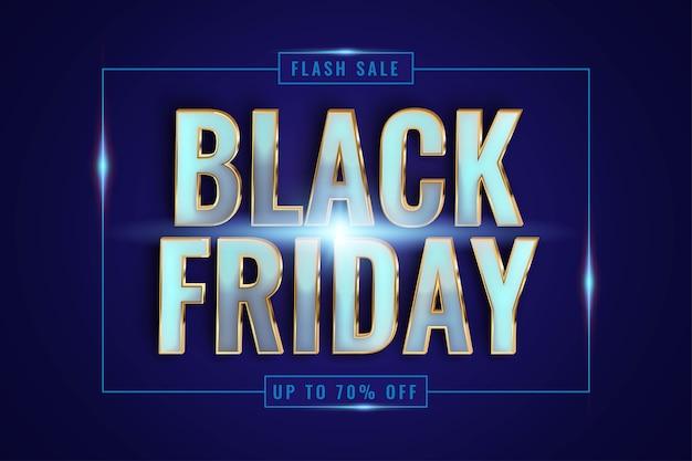 Vendita speciale del black friday con tema effetto Vettore Premium