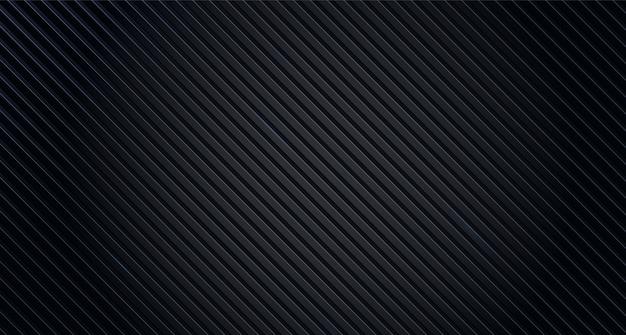 Linee nere dell'estratto del fondo di struttura. sfondo geometrico disegno astratto nero Vettore Premium