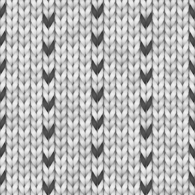 Design fairisle maglione norvegese bianco e nero. seamless knitting pattern. Vettore Premium