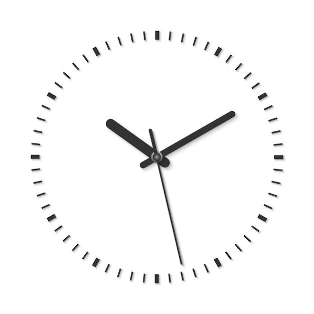 Illustrazione vettoriale in bianco e nero di orologio analogico vintage Vettore Premium