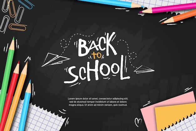 Lavagna torna a scuola sfondo Vettore Premium