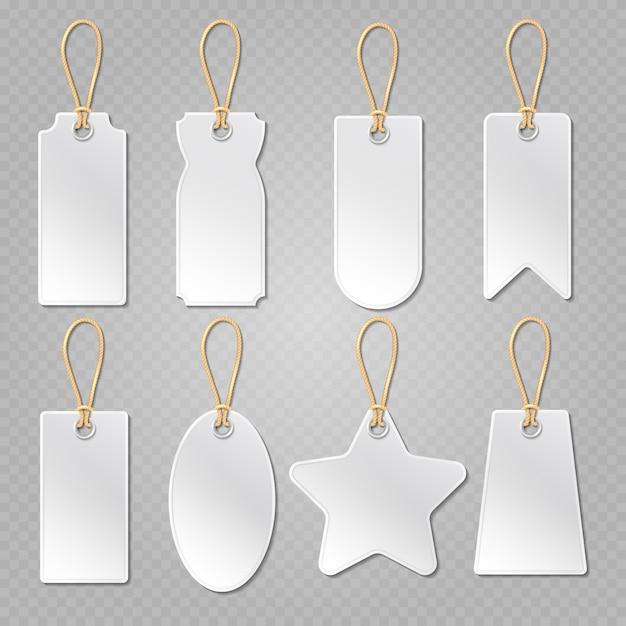 Etichette bagaglio bianco Vettore Premium
