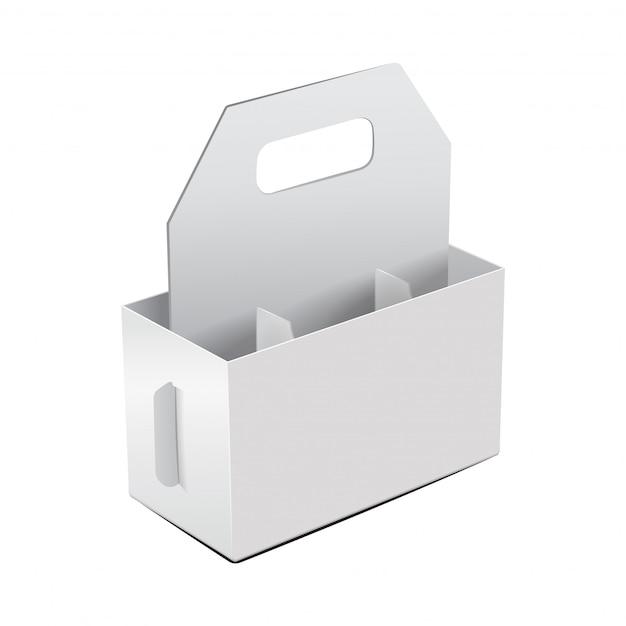 Modello di bottiglia di vite pieghevole pacchetto vuoto. Vettore Premium
