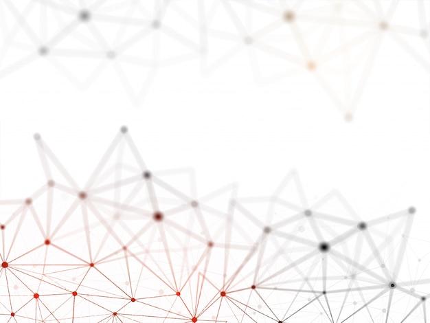Concetto di rete blockchain, contabilità condivisa, tecnologia di connessione al computer. Vettore Premium