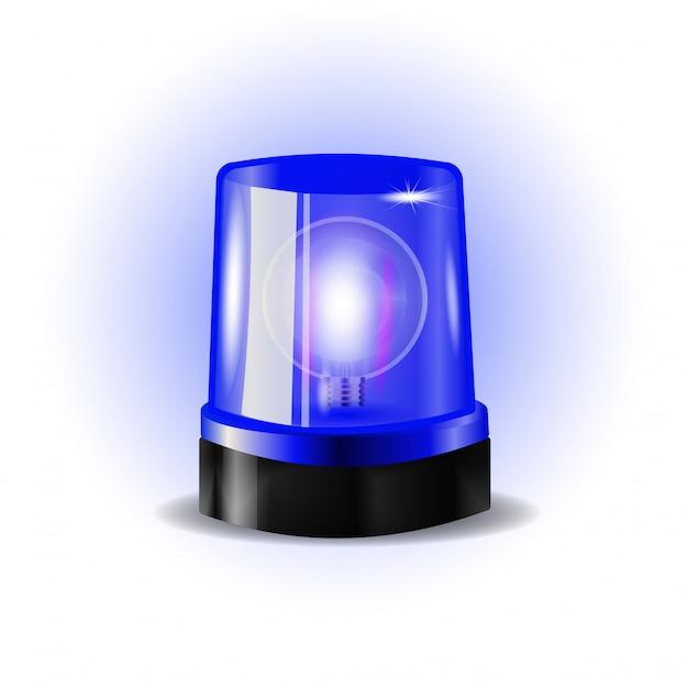 Lampeggiatori blu sirena Vettore Premium