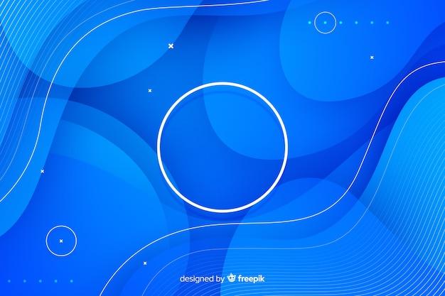 Sfondo di forme di flusso blu Vettore Premium