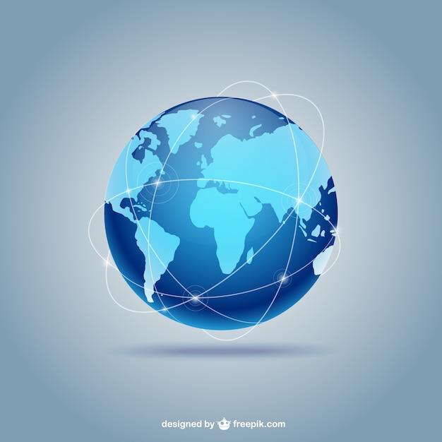 Blue globe Vettore Premium
