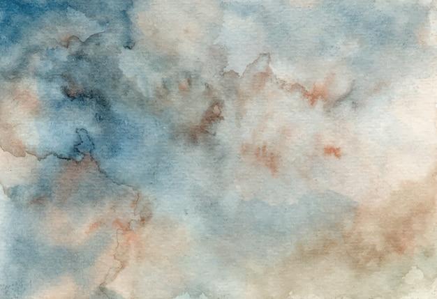 Grigio blu astratto sfondo acquerello trama Vettore Premium