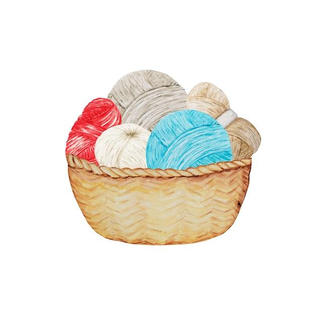 Crochet beige blu rosso grigio Vettore Premium
