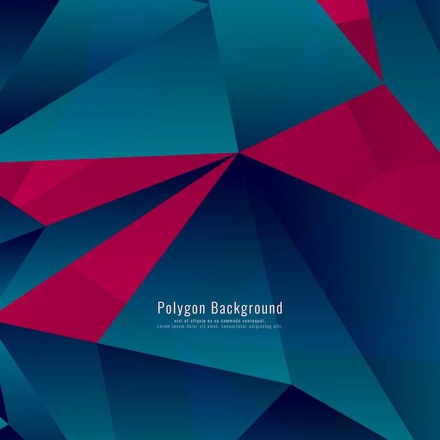 Astratto moderno poligonale sfondo colorato Vettore Premium