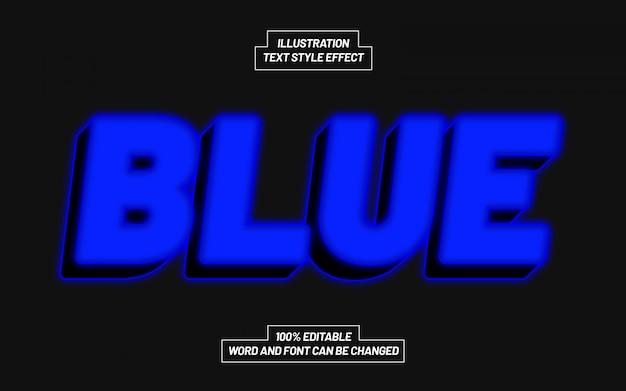 Effetto stile testo blu Vettore Premium