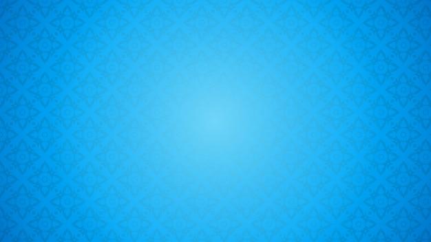 Illustrazione blu del modello tailandese Vettore Premium