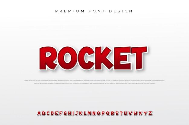 Carattere alfabeto moderno grassetto Vettore Premium