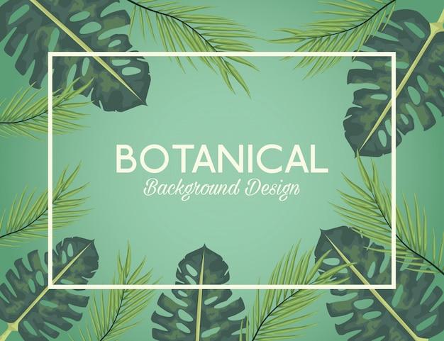 Sfondo botanico Vettore Premium