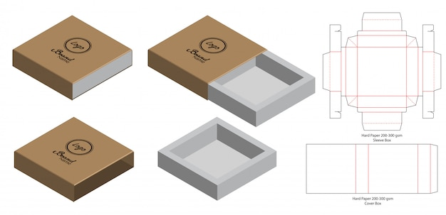 Design della confezione fustellato Vettore Premium