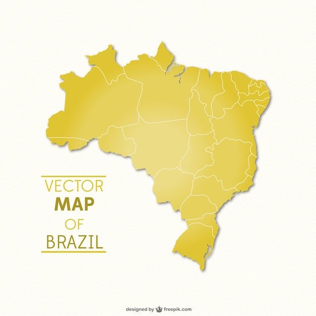 Brasile mappa vettoriale Vettore Premium
