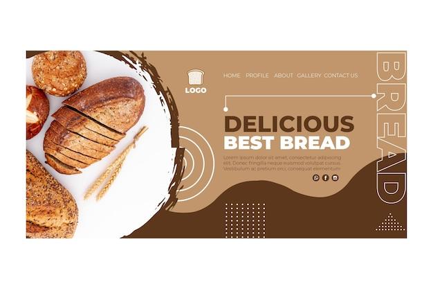 Concetto di pagina di destinazione del pane Vettore Premium