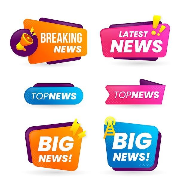 Design di banner di ultime notizie Vettore Premium