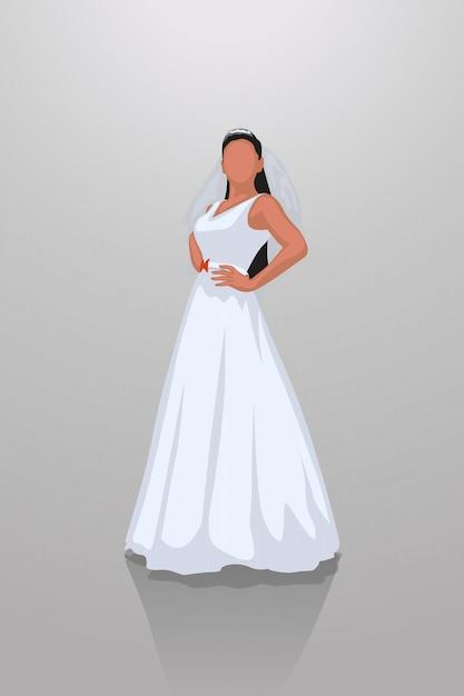 Sposa su grigio Vettore Premium