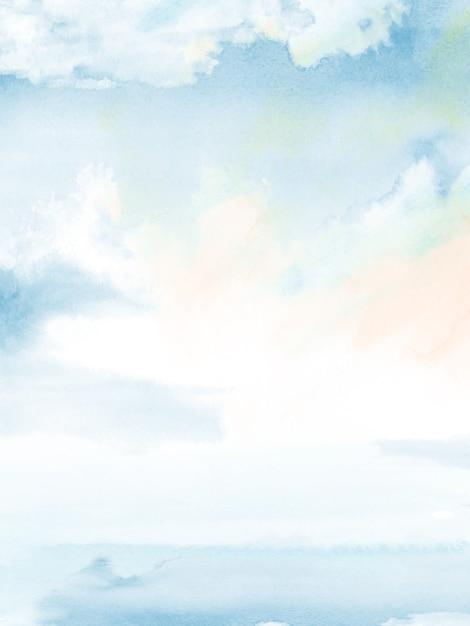 Colori vivaci con sfumatura dell'acquerello blu Vettore Premium