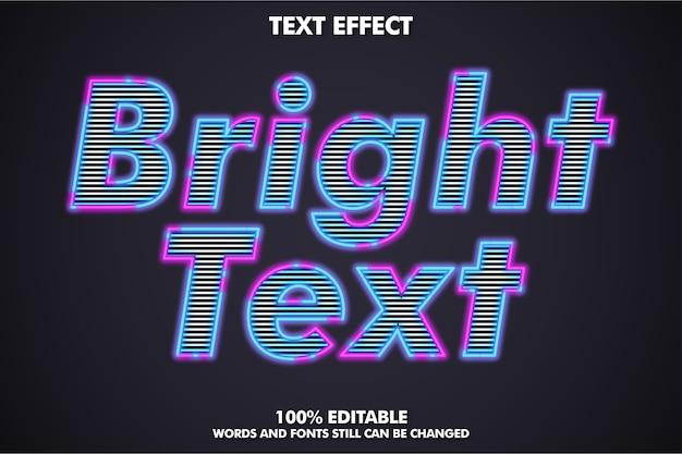 Effetto di testo contorno luminoso Vettore Premium