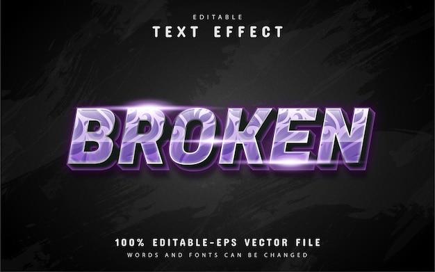 Effetto di testo rotto con motivo Vettore Premium