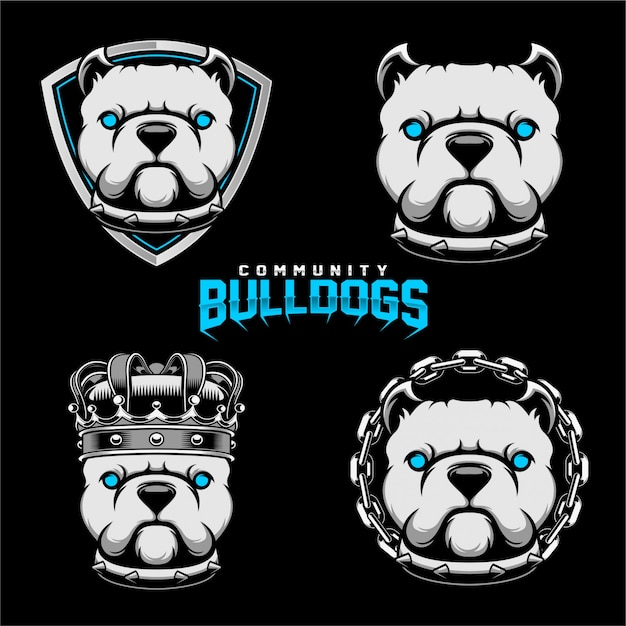 Badges bulldogs Vettore Premium