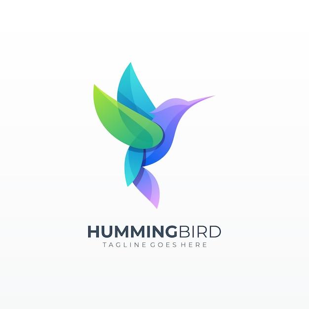 Logo bunny colorful grid shape Vettore Premium
