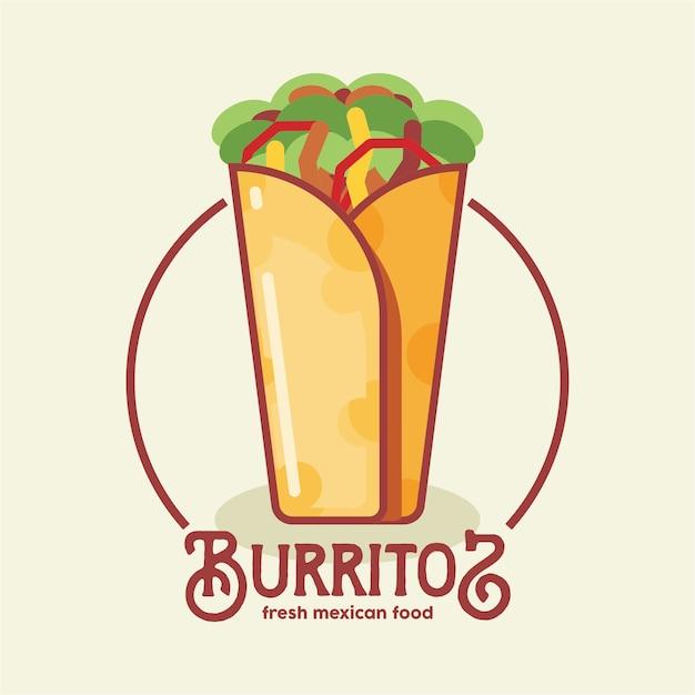 Logo di burritos Vettore Premium