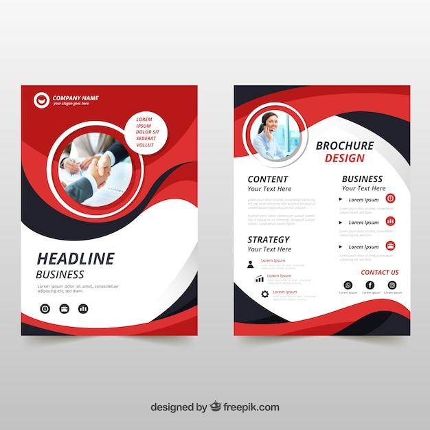 Brochure aziendale in formato a5 con stile piatto Vettore Premium