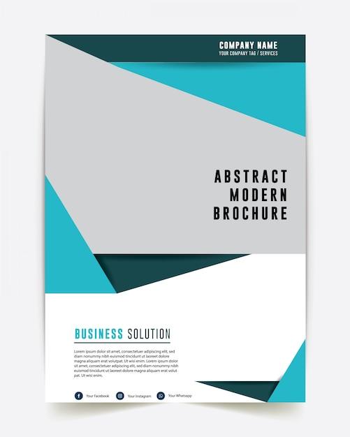 Brochure aziendale progettazione del bilancio annuale Vettore Premium