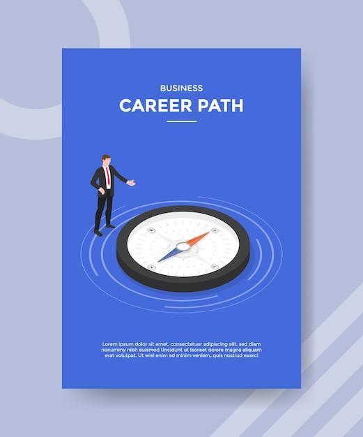 Modello di volantino del percorso di carriera aziendale Vettore Premium