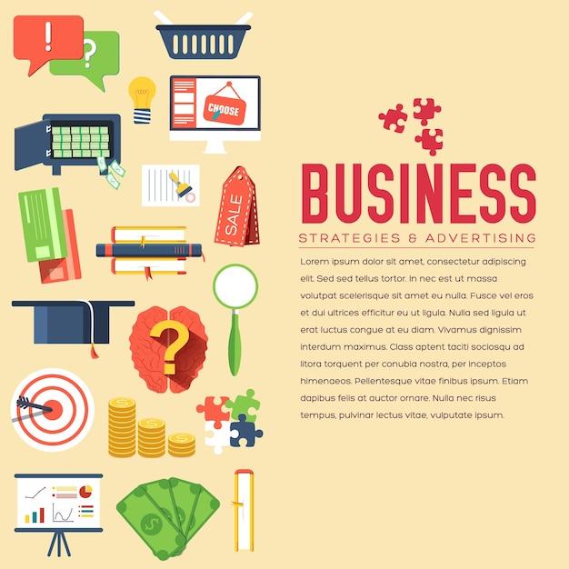 Modello di infographics del cerchio di affari. icone per il tuo prodotto o applicazioni web e mobili Vettore Premium