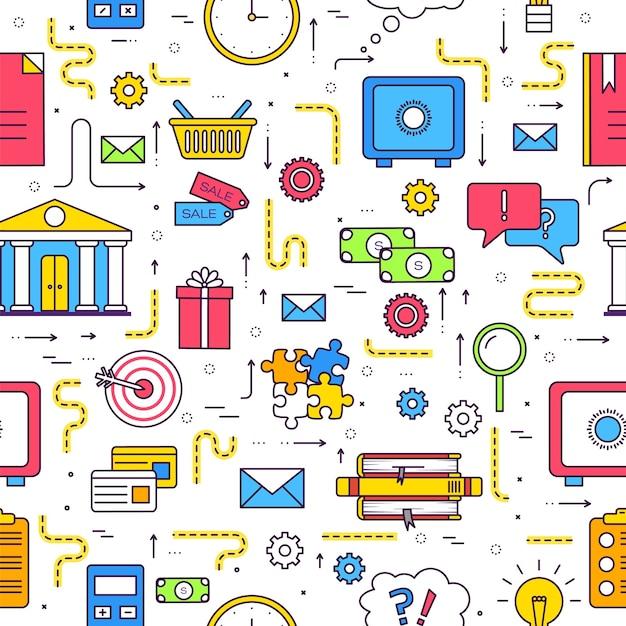 Modello di infographics del cerchio di affari. Vettore Premium