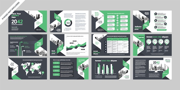 Presentazione dell'azienda di affari con il modello di infographics. Vettore Premium