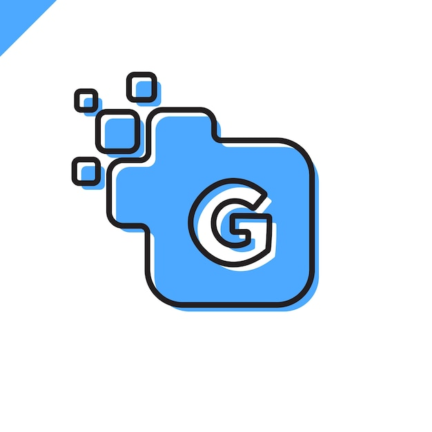 Vettore corporativo di progettazione di logo della fonte della lettera quadrata corporativa di affari. modello di alfabeto di lettera digitale colorato per tecnologia. logotipo pixel Vettore Premium