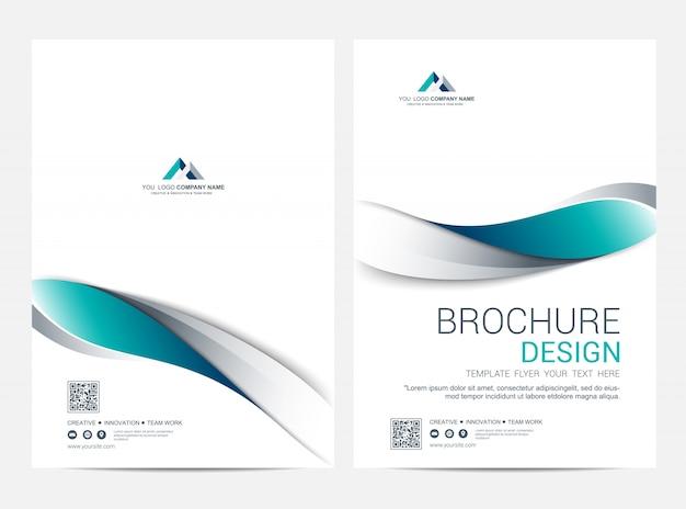 Copertina business e modello di copertina posteriore, design minimale corporativo Vettore Premium
