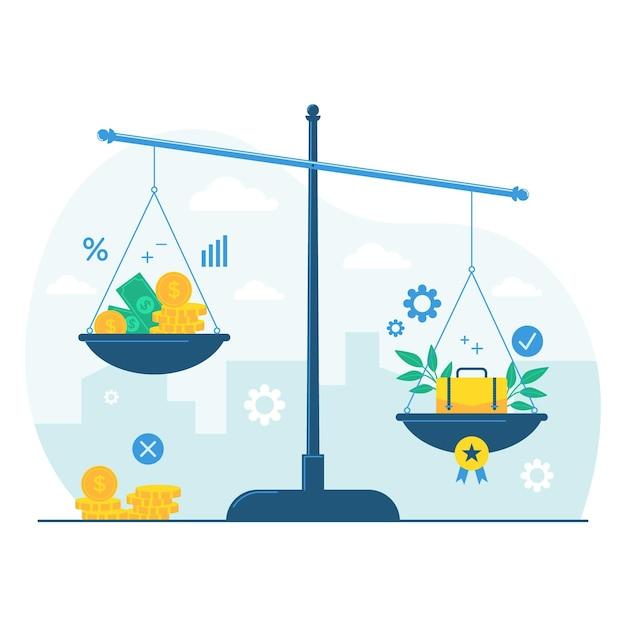 Concetto di etica aziendale Vettore Premium