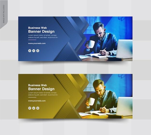 Banner di post sui social media per la copertina di facebook aziendale Vettore Premium