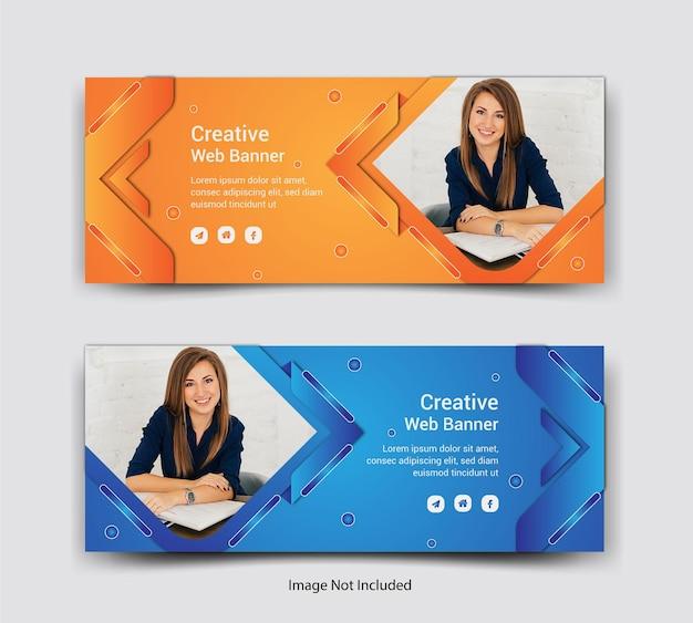 Progettazione di post sui social media per la copertina di facebook aziendale Vettore Premium
