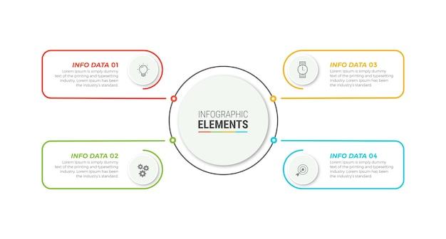 Modello di elementi di business infografica Vettore Premium