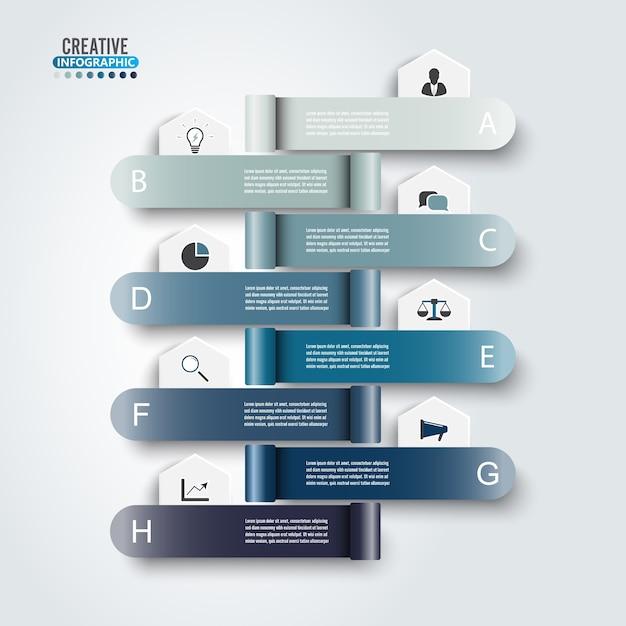 Modello di business infografica. Vettore Premium