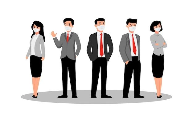 La gente di affari squadra alla ricerca di qualcosa di banner Vettore Premium