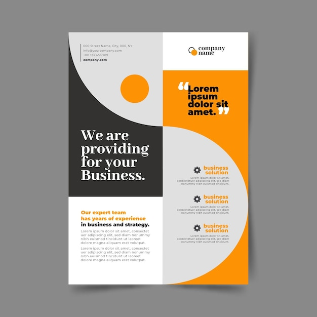 Modello del manifesto di affari Vettore Premium