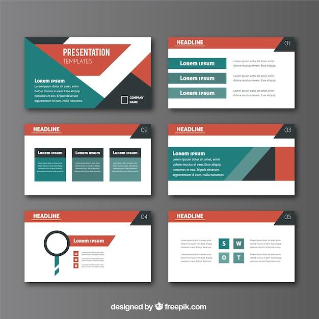 Presentazione aziendale in stile astratto Vettore Premium