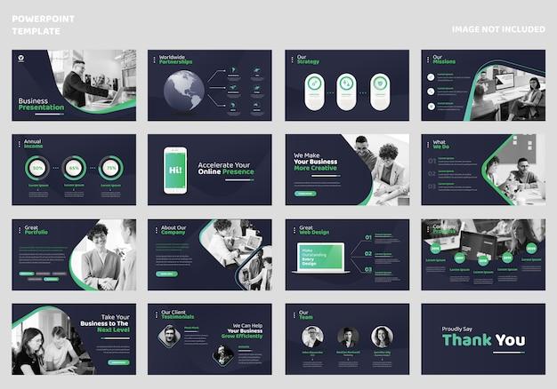 Modello di presentazione aziendale Vettore Premium