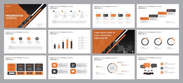 Concetto di design presentazione relazione d'affari Vettore Premium