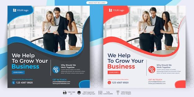 Posta sui social media aziendali Vettore Premium