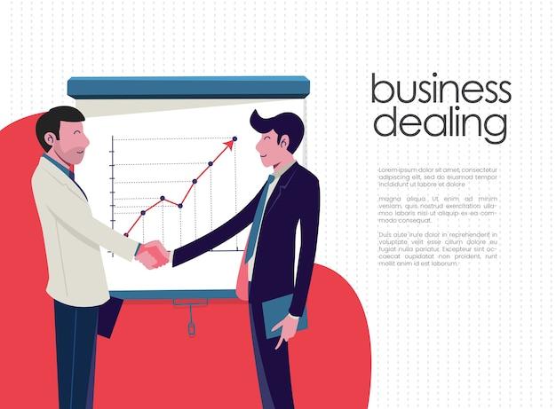 Affare di affari Vettore Premium